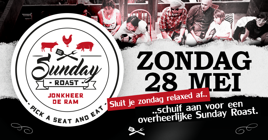 JDR Sunday Roast 28 mei 2017