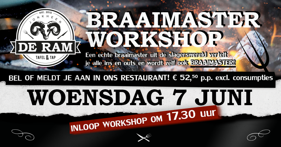 JDR Braaimaster FB-post 7 juni 2017