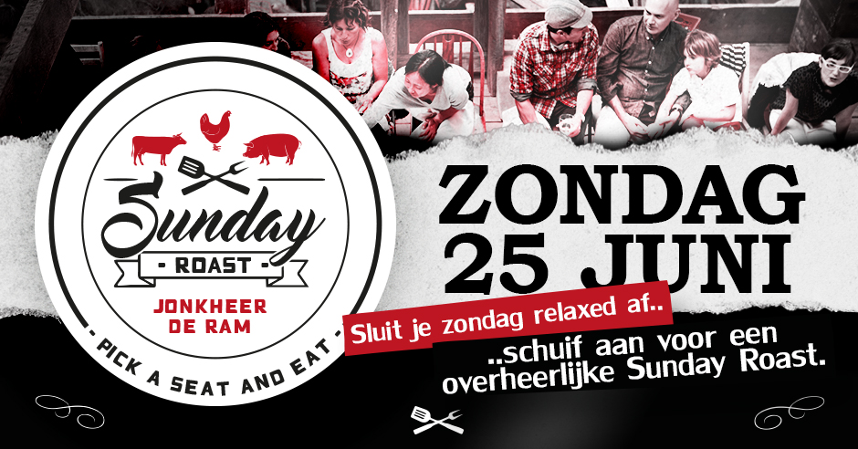 JDR Sunday Roast 25 juni 2017